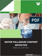 Water Palladium Content Detector