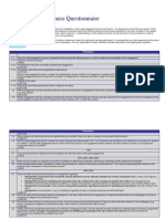 Planning Completeness Questionnaire
