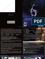 Resident Evil 6 Manual (PlayStation 3 - English)