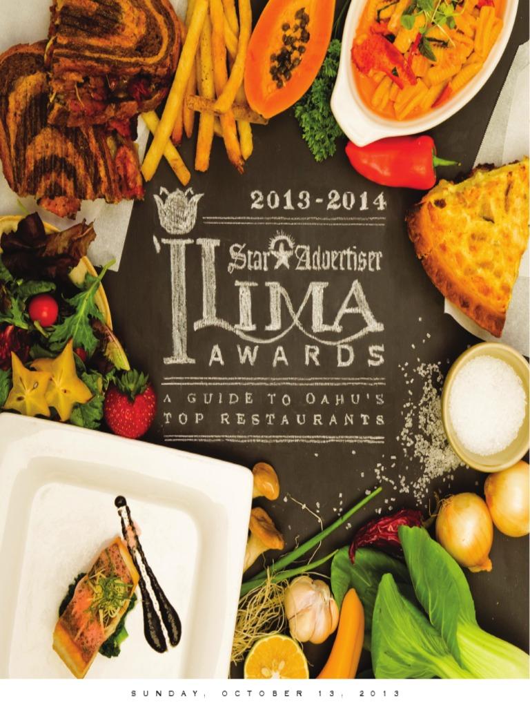 2013-2014 \'Ilima Awards: Hawaii\'s Top Restaurants | Sushi | Menu