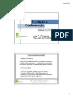 Aula 7. - Processos Especiais de Fundição