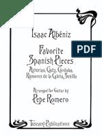 Allbeniz - Favorite Pieces - P Romero
