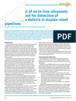 Development of an in-line ultrasonic inspection tool for detection of pinhole-type defects