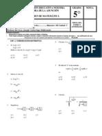 examen de 5° UNIDAD II- III