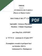 Etude de Voies d'Obtention de Dérivés Boro-Azotés Nitrés-2013-Oleg Eric ANITOFF