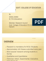 Research in GCE_Overview _Sohail