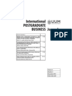 International POSTGRADUATE BUSINESS Journal Vol 4