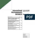 International POSTGRADUATE BUSINESS Journal Vol 4