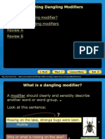 correcting danging modifiers