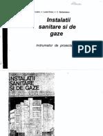 Instalatii sanitare si de gaze - indrumator de proiectare