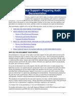 Preparing Audit Documentation