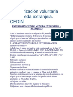 Exteriorización voluntaria de moneda extranjera