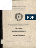 Caracterizacion de La Estructura Vertical y Horizontal en Bosques Pino Encino
