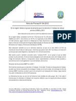 Nota de Prensa Nº 04 - 2012