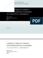 Company Codes of Conduct