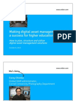 Making digital asset management (DAM) a success for higher education