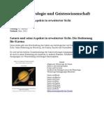 Saturn in Geisteswissenschaft Und Astrologie