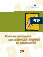 Protocolos de Consejeria Para La Atencion Integral Del Adolecentes