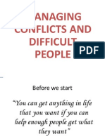Manging Conflicts and Difficult People