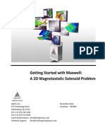 Getting Started With Maxwell a 2D Magnetostatic Solenoid Problem
