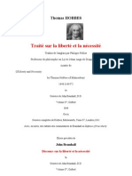 Hobbes Bramhall Debate (In English and French translation) Of Liberty and Necessity