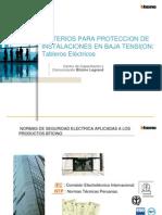 [12] Criterios de protección tableros baja tensión
