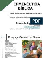 Hermenéutica Dr. Joselito Orellana