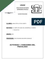 Act. 1 Funciones Psicologo Mena Ortiz Lizbeth