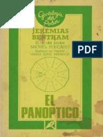 bentham El Panóptico y Michel Foucault El ojo del poder