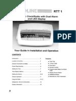 Audioline RTT1 Clock Radio Manual