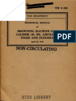 TM 9-225 'Browning Machine Gun Caliber 50 M2 Aircraft Fixed and Flexible' (1942)