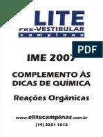 Ime2007 Dicas Quimica Reacoes Organicas