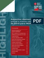 Aspectos Destacados de Las Guias de La AHA 2010 RCP y ACE