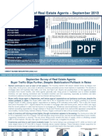 Credit Suisse Monthly Report of Real Estate Agents September 2013 Results