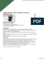 Nutella Maison _ Pâte à Tartiner sans sucre.avec cacao