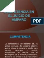 Competencia en El Juicio de Amparo