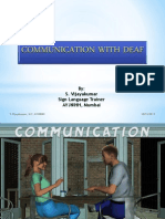 Communication With Deaf
