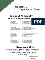 Phd Prospectus