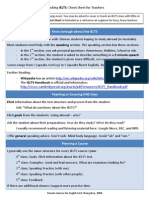 "IELTS ""Cheat Sheet"" for Teachers"