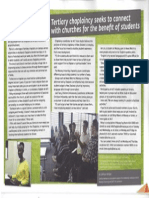 Anglican Magazine, 'Tertiary chaplaincy seeks to connect with churches for the benefit of students', September 2013, p. 13.