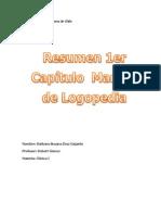 Resumen del primer capítulo del Manual del Logopedia