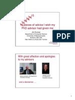 10 PhD Advice i Wish
