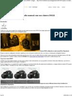 Fotografia Manual Com Sua DSLR - Techtudo