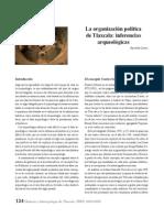 2011 15 La organización política de Tlaxcala Inferencias arqueológicas