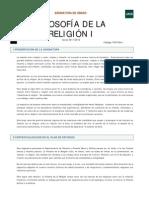 Filosofía de la Religión I