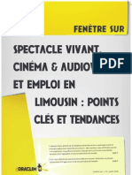 Spectacle Vivant, Cinéma et Audiovisuel et Emploi en Limousin