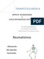 14. Manejo terapéutico de Lupus eritematoso sistémico y artritis reumatoide