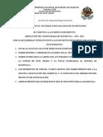 Requisitos de Matricula 2013