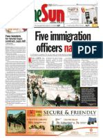 Thesun 2009-07-21 Page01 Five Immigration Officers Nabbed