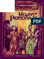 Hojas de Personaje D